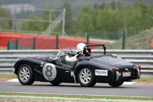 Triumph TR3S sur circuit de SPA